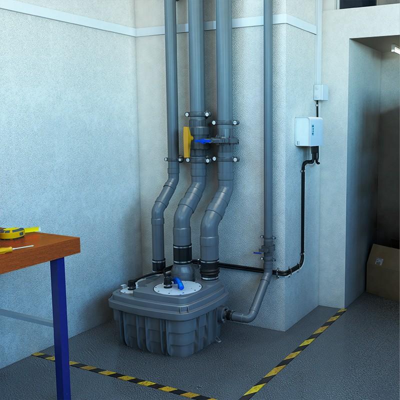 estación de bombeo vortex - SANICUBIC 1 VX - entorno