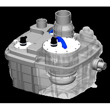 estación bombeo vortex - SANICUBIC 1 VX - semitransparente