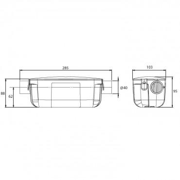 Filtro condensados SANINEUTRAL - medidas