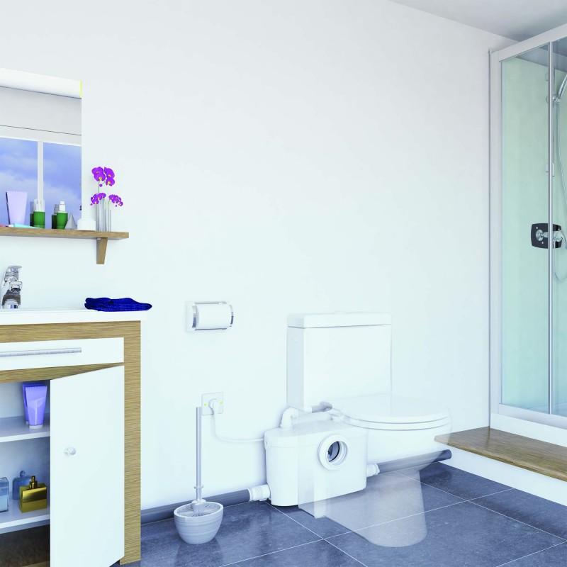 SANIPRO Up, triturador sanitario para crear un cuarto de baño completo