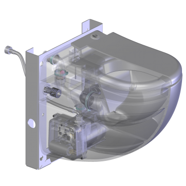 Cerámica con triturador - SANICOMPACT Comfort - transparente