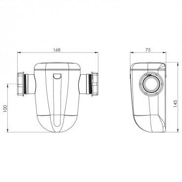 Filtro condensados SANINEUTRAL Mini - medidas