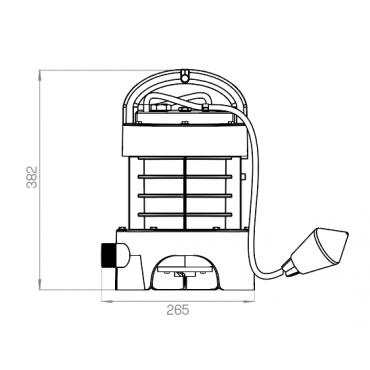 SANIPUMP - versión trituradora - medidas